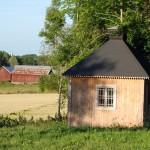 Blivande lusthuset efter nytt tak