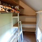 Garderob före renovering